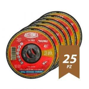 AUS781-1 - Disco Corte Acero Inox De 4-1/2? X 0.040? X 7/8? Austromex 781 25Pz