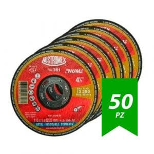 Disco Corte Acero Inox De 4-1/2″ X 0.040″ X 7/8″ Austromex 781 50Pz