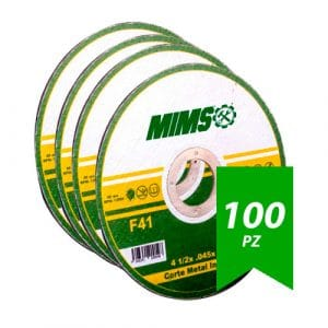 Disco De Corte 4-1/2″ Acero Inox .045″X7/8″ (F41) Mims Z-20198 100Pz