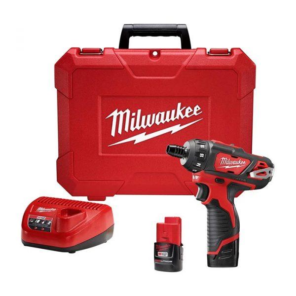 MIL2406-22 - Destornillador 1/4 M12 2 Baterias Milwaukee 2406-22 - MILWAUKEE